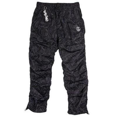 WINDBREAKER PANTS LIP CAMO: BLACK