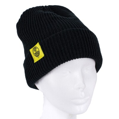 FISHERMAN BEANIE BLACK/NEON