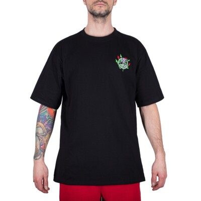 NATURE EMBROIDERY TEE BLACK
