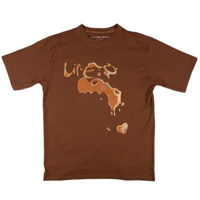 LIP LIQUID TEE: BROWN