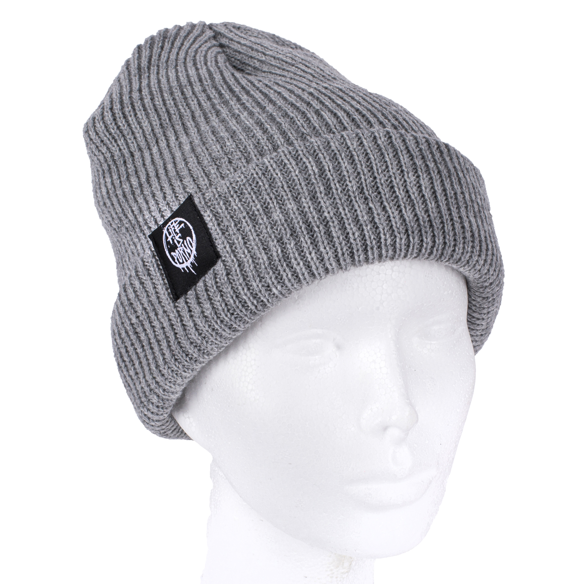 FISHERMAN BEANIE LIGHT GREY