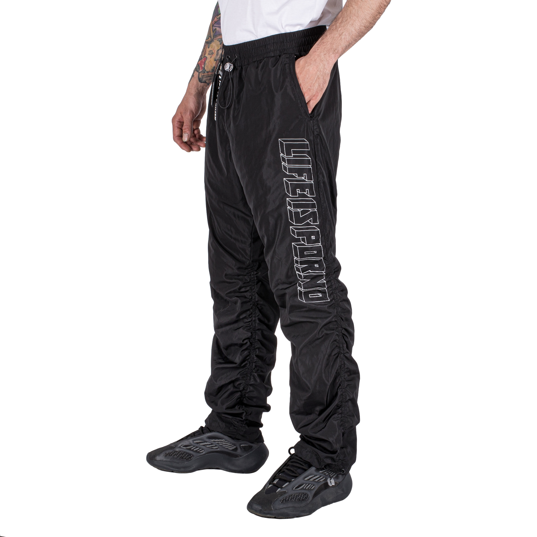 WINDBREAKER PANTS BLACK