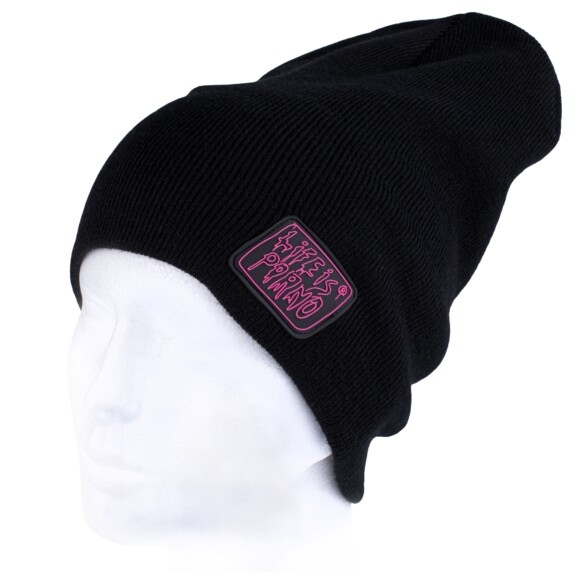 TAXI BEANIE LONG BLACK/PINK